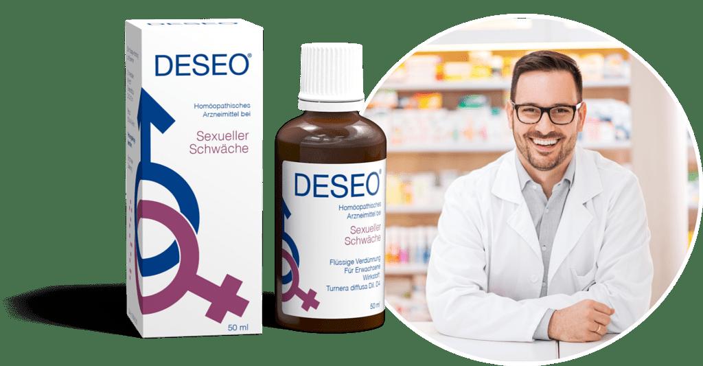 DESEO® • Rezeptfrei in jeder Apotheke erhältlich oder online zu bestellen.